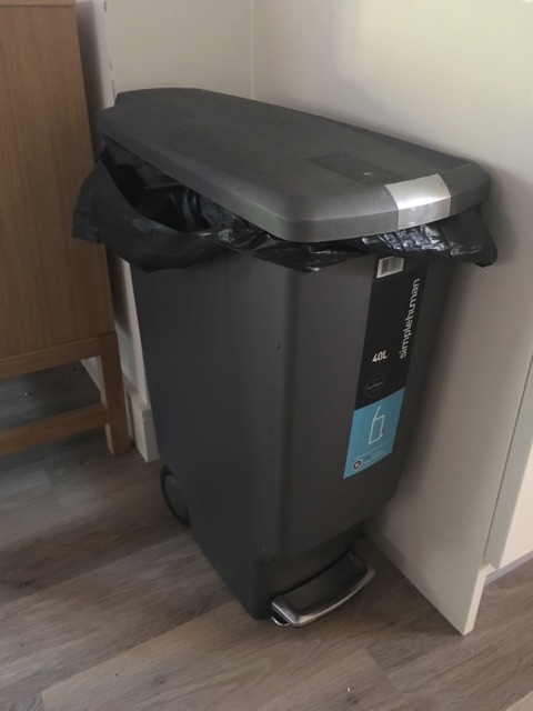 simplehuman 40 litre plastic slim pedal bin